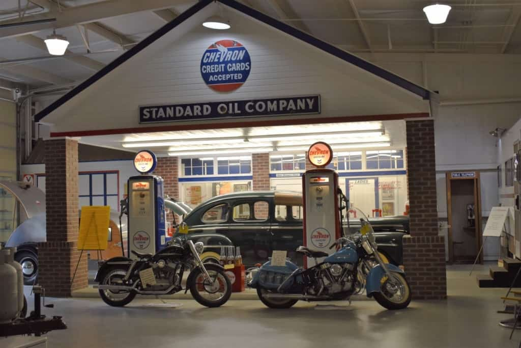 The Jack Sisemore Traveland RV Museum has recreated the days of full service filling stations inside their museum.