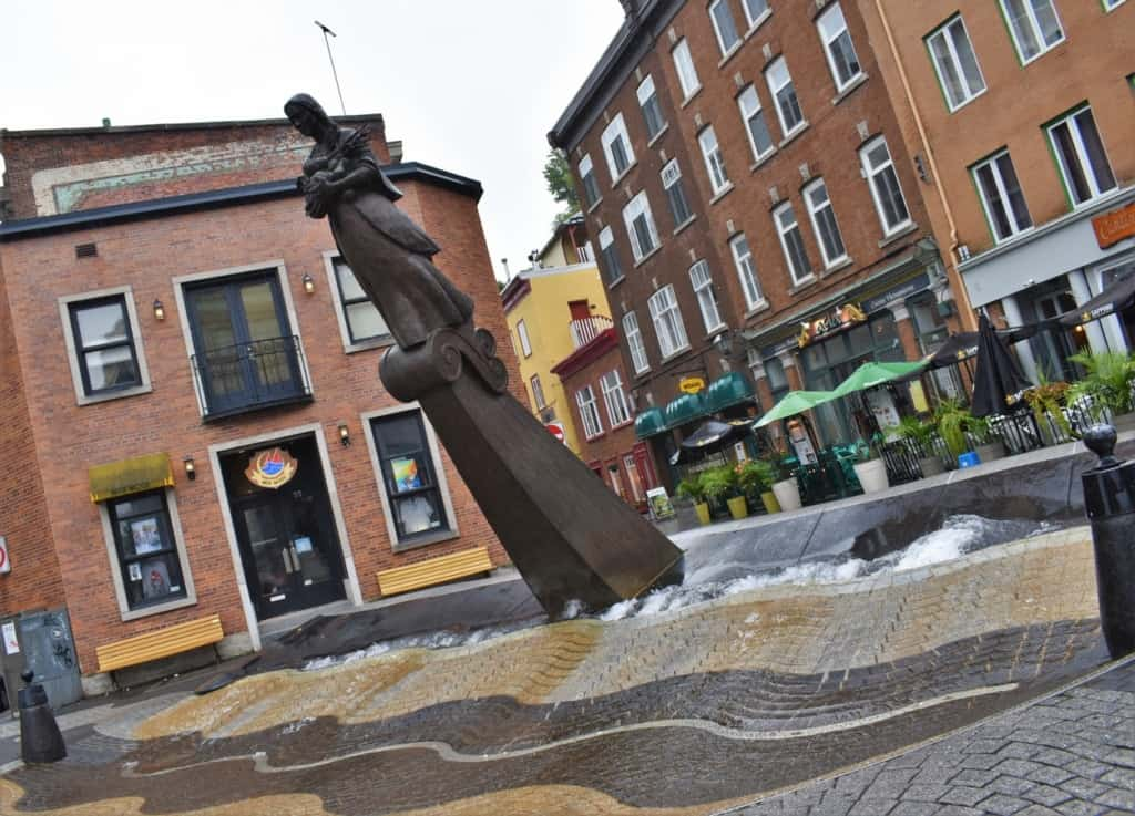 Our tour of Quebec City included sightings of some amazing artwork.