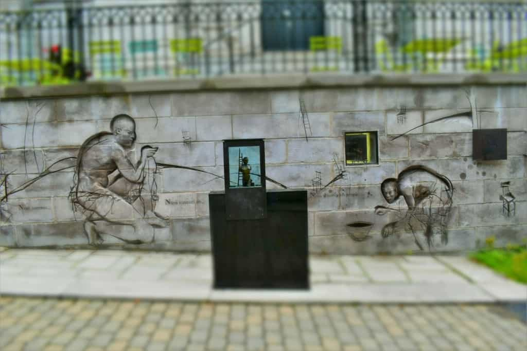 Artwork can be found scattered all around the Old City of Quebec City.