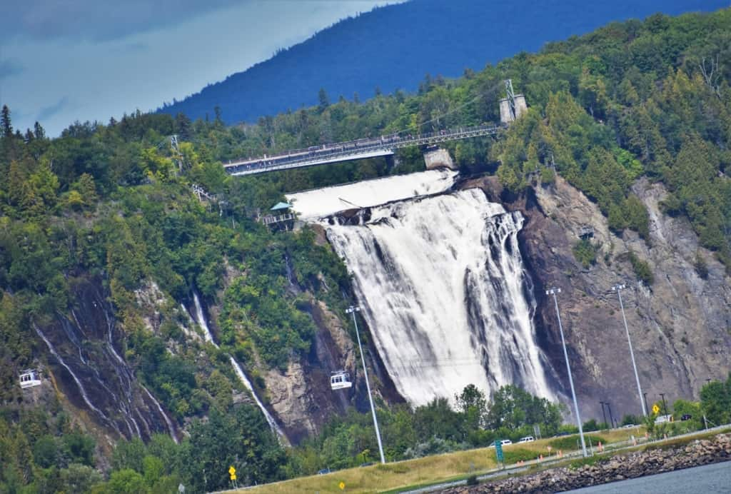 Our first view of Montmorency falls was breathtaking.