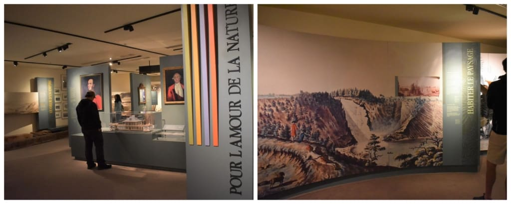 The interpretation center gives some vital history of Montmorency falls and the surrounding area.