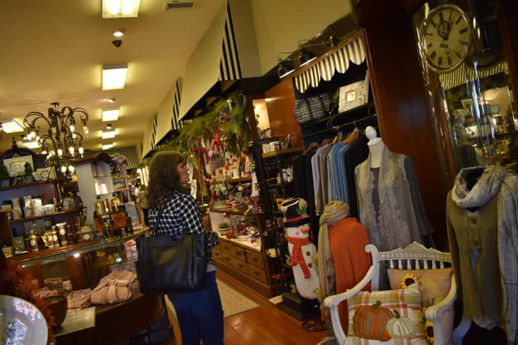 Crystal enjoys browsing the selection at one of the shops in Jefferson City.