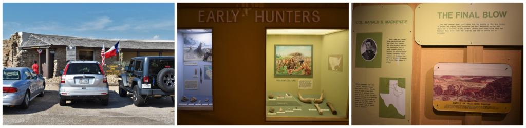 The visitors center is a good stop to learn about the history of Palo Duro Canyon.