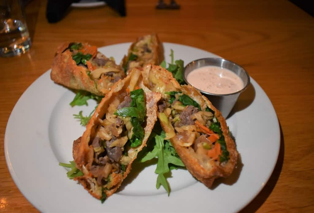 Our dish of Steak Egg Rolls was the perfect start to an evening of comfortable elegance at Public House in Amarillo, Texas.