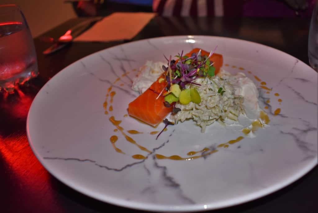 An appetizer made with smoked trout was incredibly delicate, yet filled with flavor.