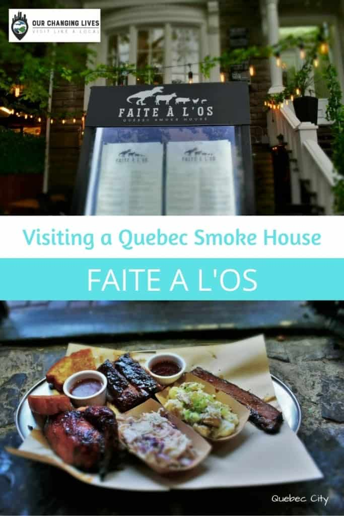 Visiting a Quebec Smoke House-Faite a l'os-made to the bone-barbecue-Canadian BBQ-smoked meats-restaurant