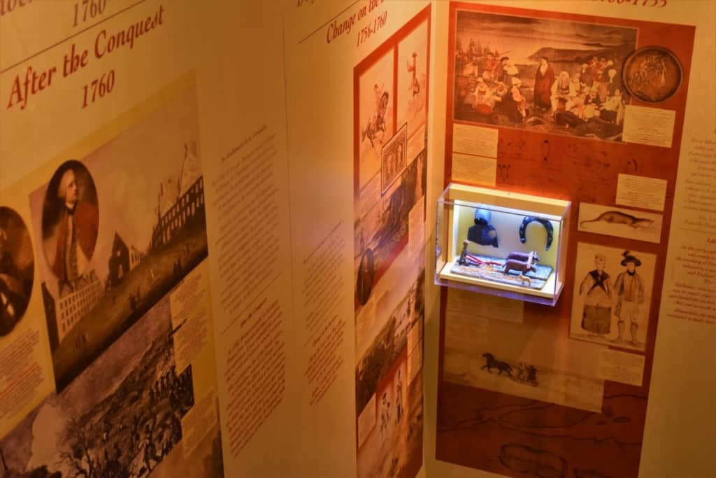 There is plenty of historical information to be scanned. while waiting for a show at Musee Du Fort.