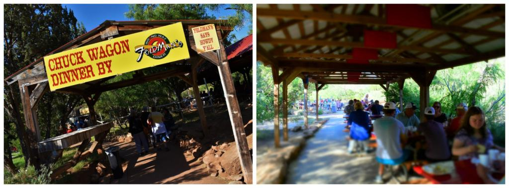 A chuckwagon BBQ dinner can be part of your Texas-sized fun at the Texas Outdoor Musical.