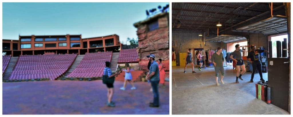A backstage tour helps visitors understand all of the work that goes into the Texas-sized fun.
