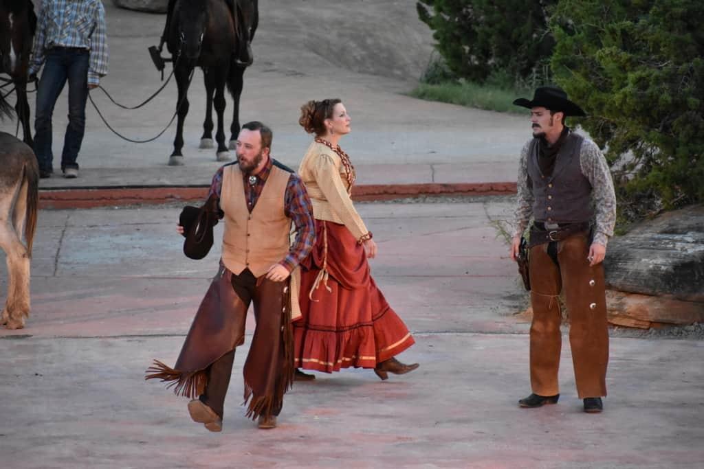 Live action helps bring the story to life at Texas Outdoor Musical.