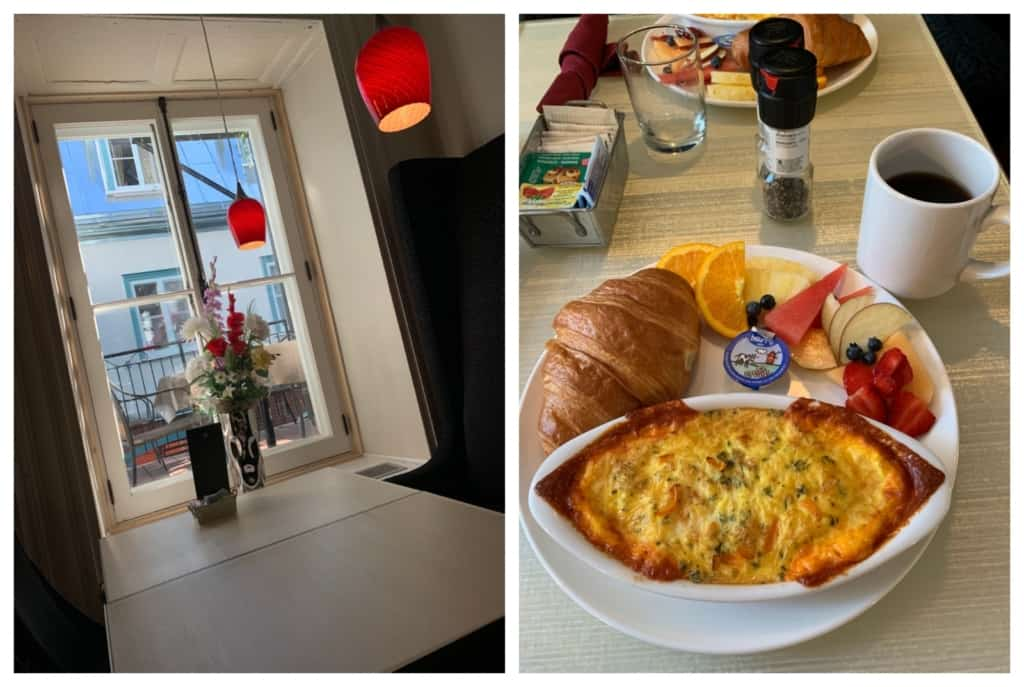 Every morning was a delight as we explored the menu at Hotel Manoir d'Auteuil in Quebec City.
