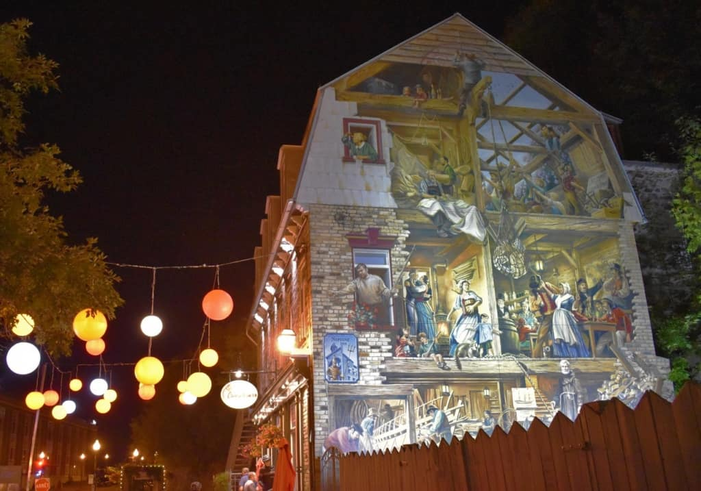 The beautifully decorated buildings in Quebec City help tell the story of the rich history of this region.