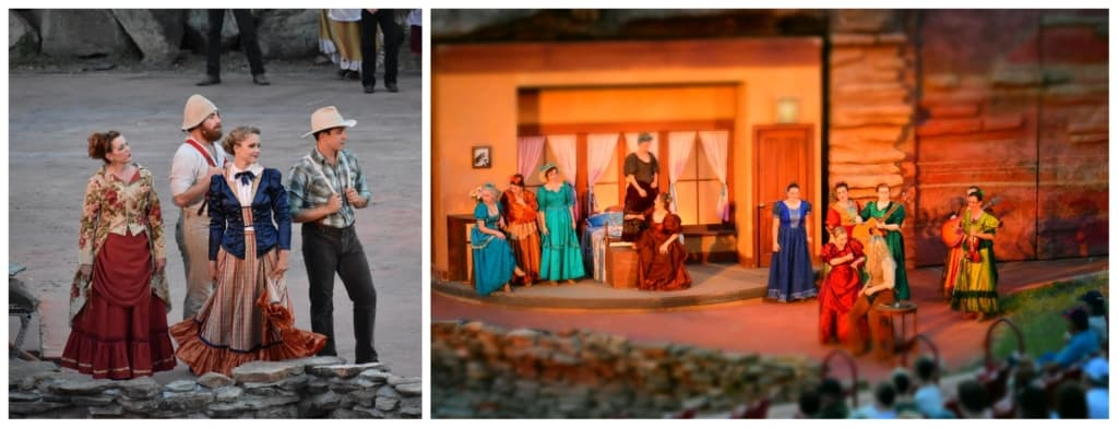 An evening of entertainment can be found at the Texas Outdoor musical in Palo Duro canyon.