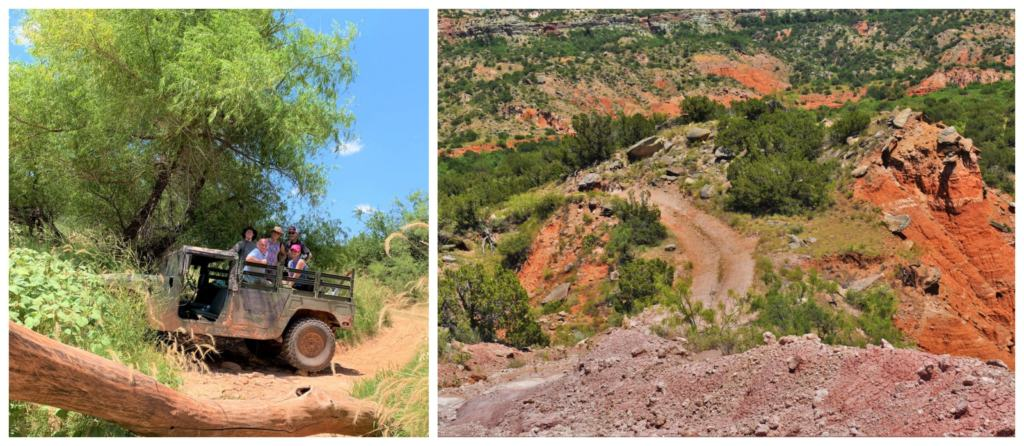 Sometimes playing in the Panhandle will include a wild jeep ride through Palo Duro Canyon.