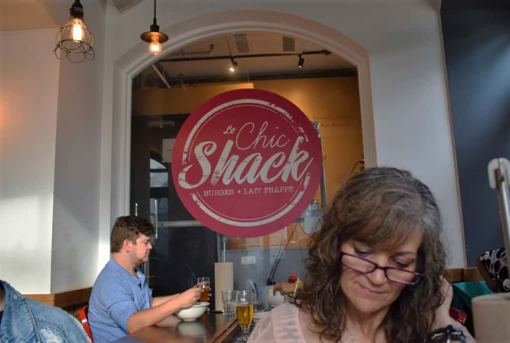 The simplified menu at Le Chic Shack is filled with flavorful meal options.