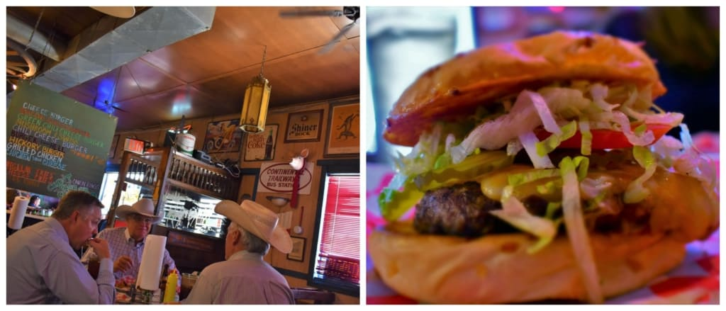 Coyote Bluff Cafe has huge beef burgers that fill up even the hungriest ranchers.