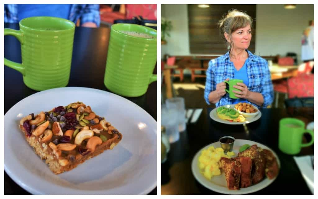 Breakfast at Girasol Cafe had us dining on the Panhandle in a healthy fashion.