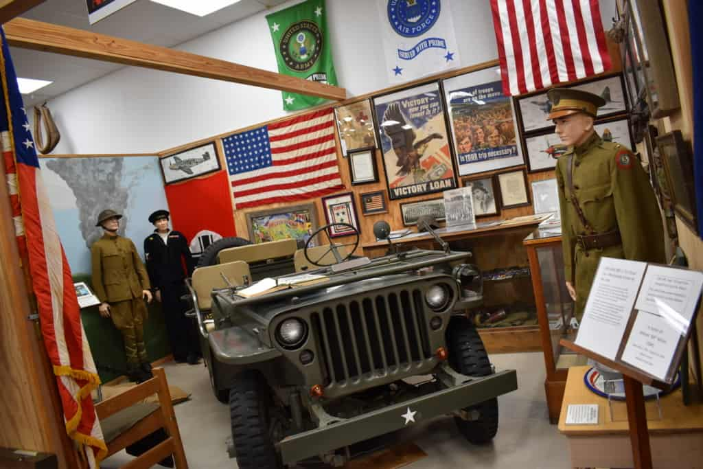 It is not unusual to find patriotic displays at museums in the central U.S.