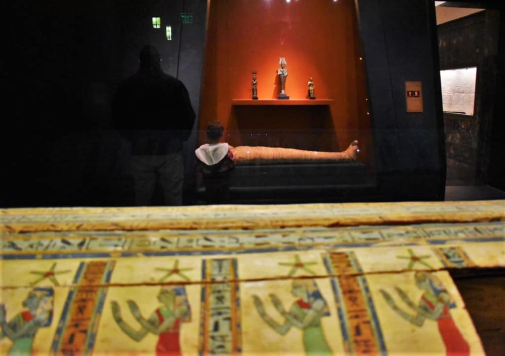 Ancient Egyptian pieces are popular with all ages of visitors.