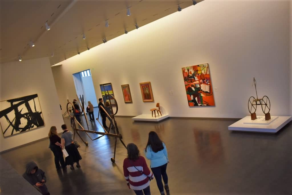 There are plenty of galleries to explore at the nelson-Atkins Museum of Art in Kansas city.