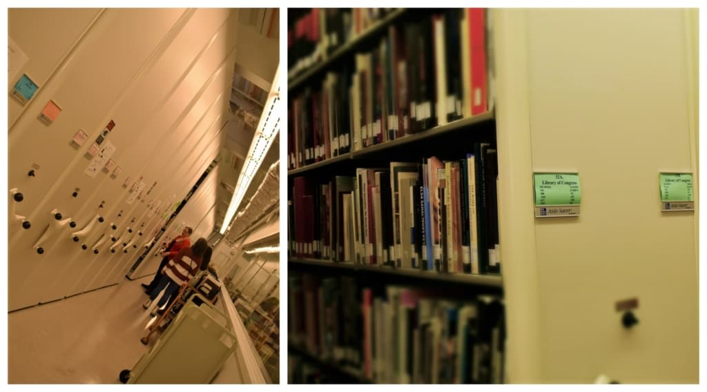 Seeing the details of the underground resource library left us in awe of the staff who manage this immense collection.