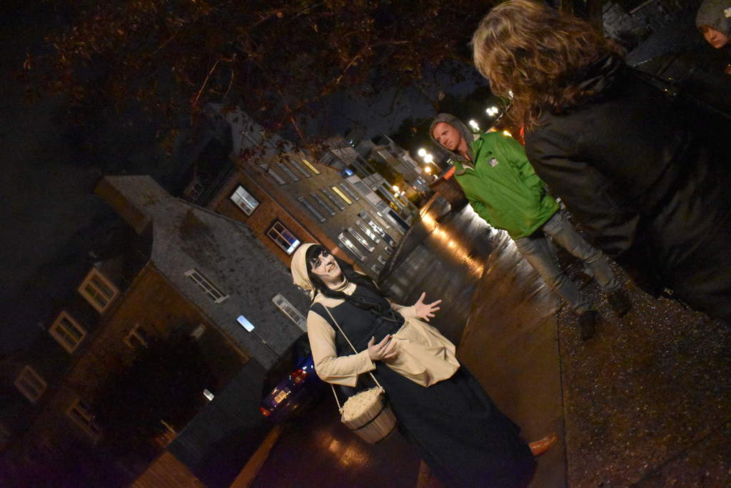 Our tour guide, marie, imparted us with plenty of haunting tales from the early days of Quebec City.