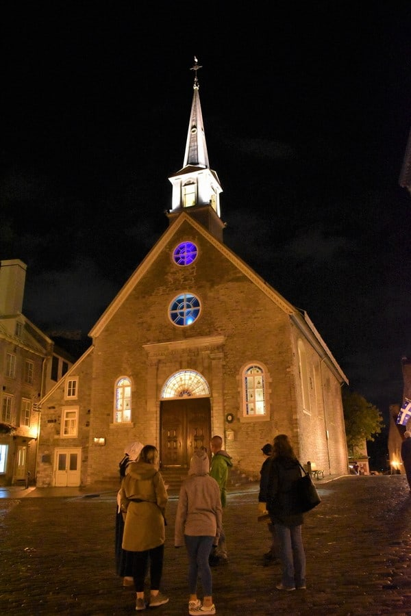 Hearing of the history in the shadows helped us paint a better picture of the early days of Quebec City.