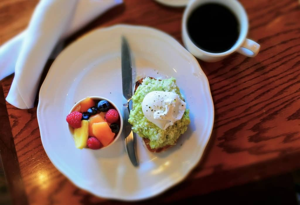 Avocado Toast is one of Crystal's favorite dishes, so Room 39's version had to be sampled.