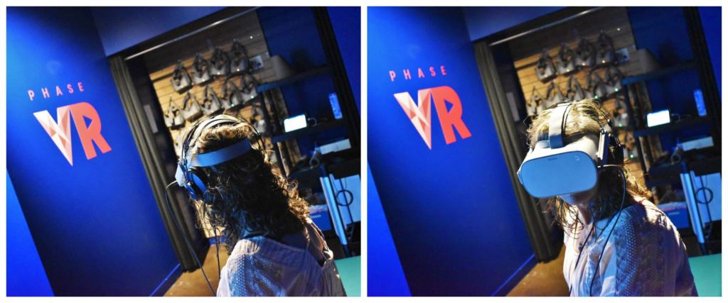 Visitors have to gear up to participate in the virtual history tour at Immersion Quebec.