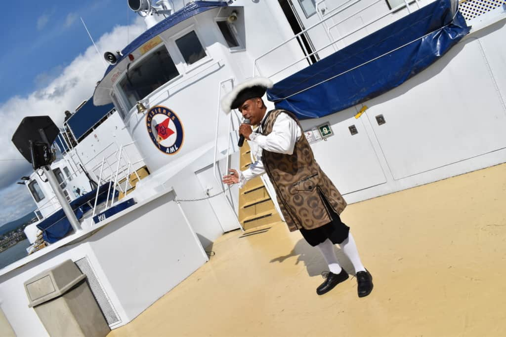 The ship's historian entertained the passengers with tales of the city's early days as we sailed through history.