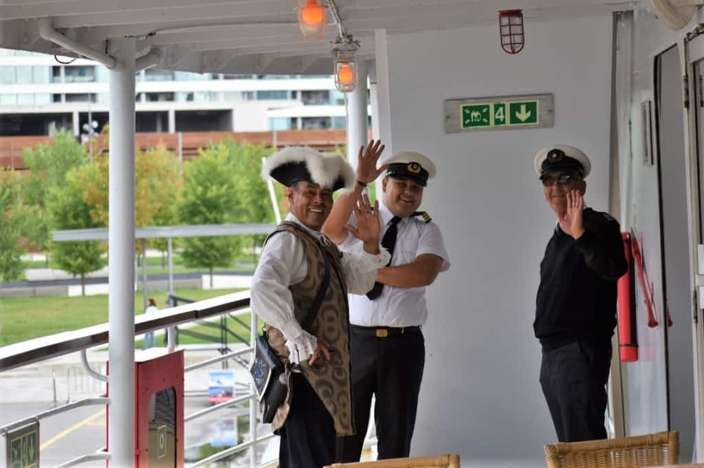 The crew members were very welcoming as we boarded our AML Cruise to went sailing through history.