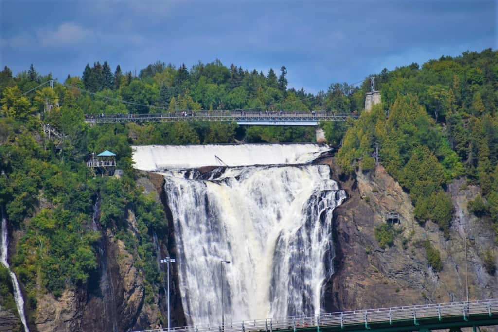 The view of Montmorency Falls is extra special during a cruise along the St. Lawrence river.