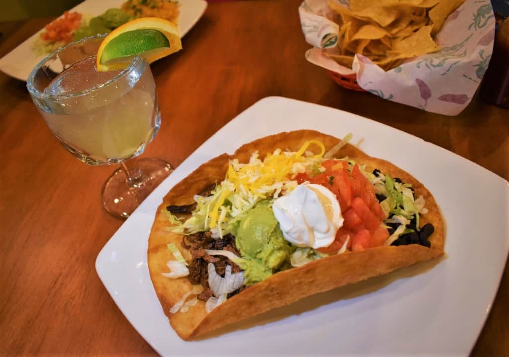 The well-designed taco Salad is one way to taste the colors of Mexico at El Toro Loco.