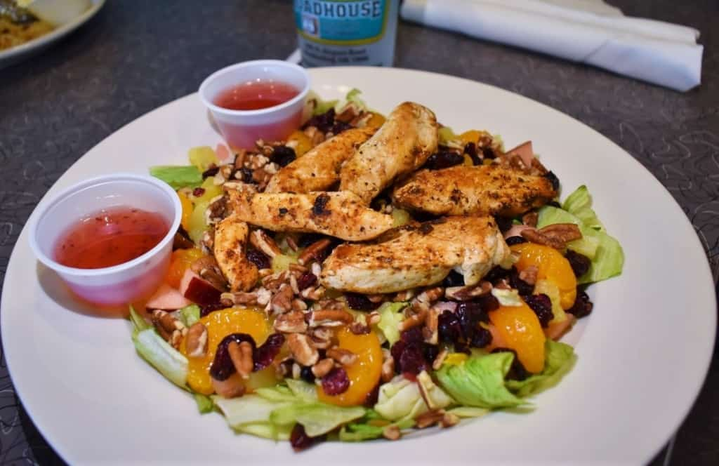 The Paradise Salad is true to its name with a heaping helping of tropical flavors.