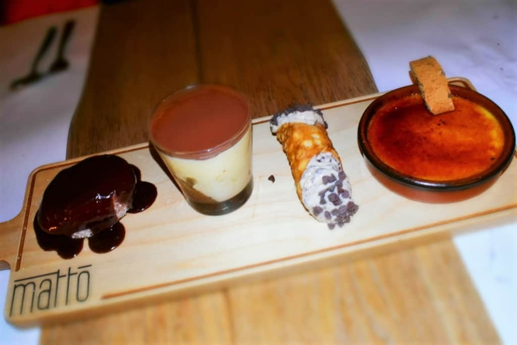 Our dessert tray, at Ristorante Il Matto, was a sweet collection of Italian favorites.