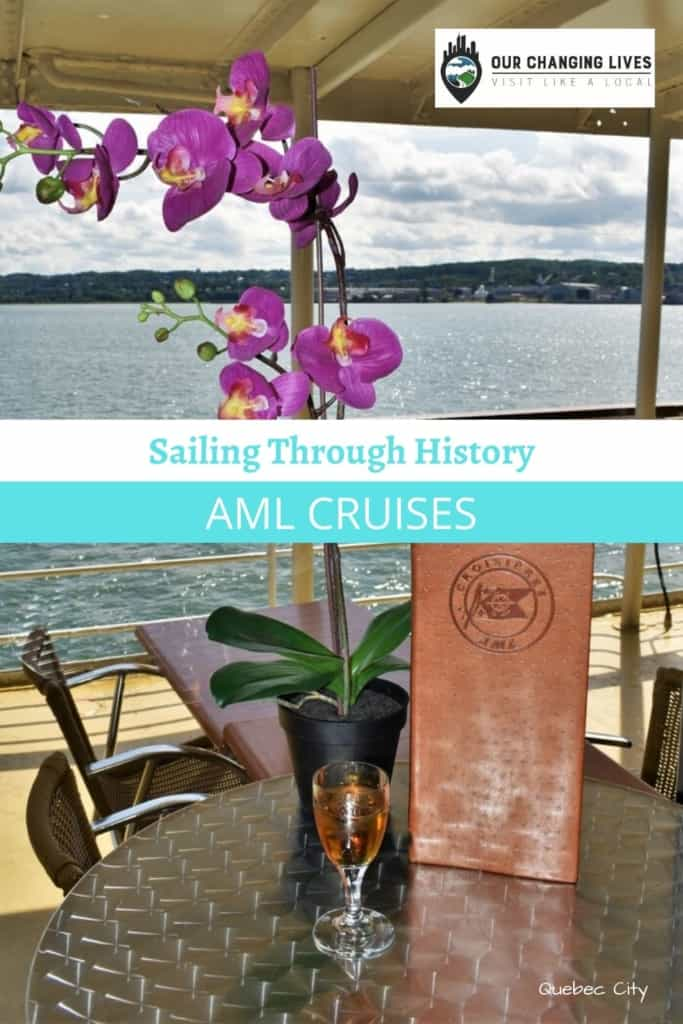 sailing through history-AML Cruises-Taverne Louis-beef tartar-fish and chips-history tour-St. Lawrence River-Quebec City