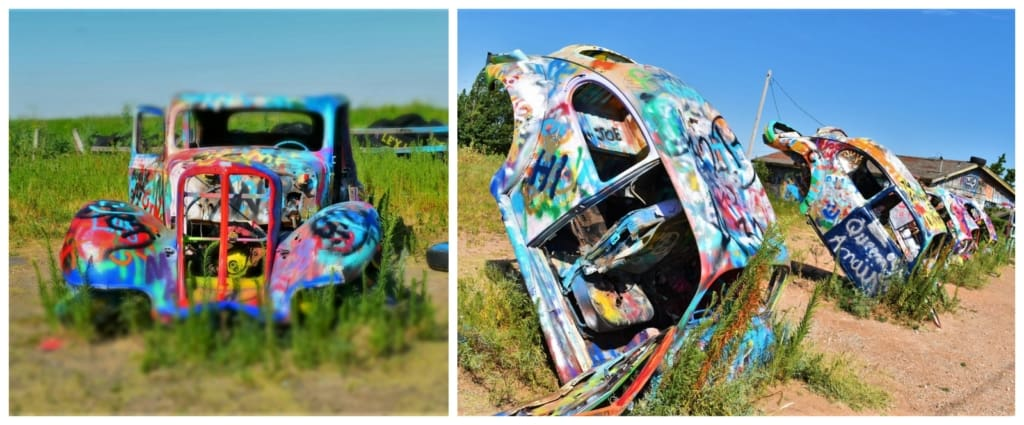 The VW Slug Bug Ranch is a fun stop while touring along Route 66.