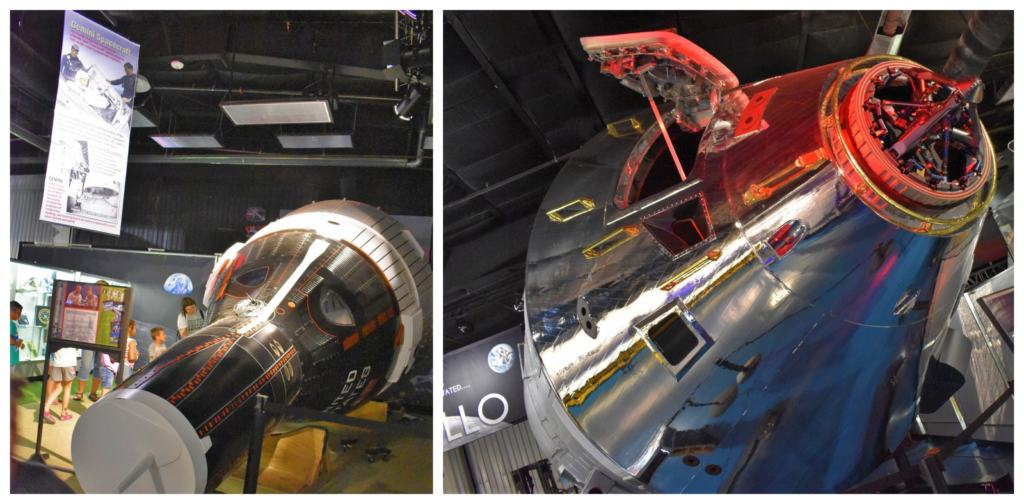 Models of space capsules make an impressive exhibit, which is one of the 6 reasons to visit the Stafford Air & Space Museum.
