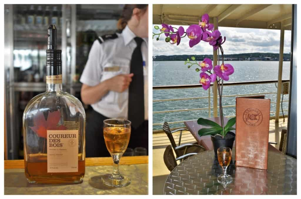 A glass of maple syrup infused whiskey was a delicious way to be sailing through history in Quebec City.