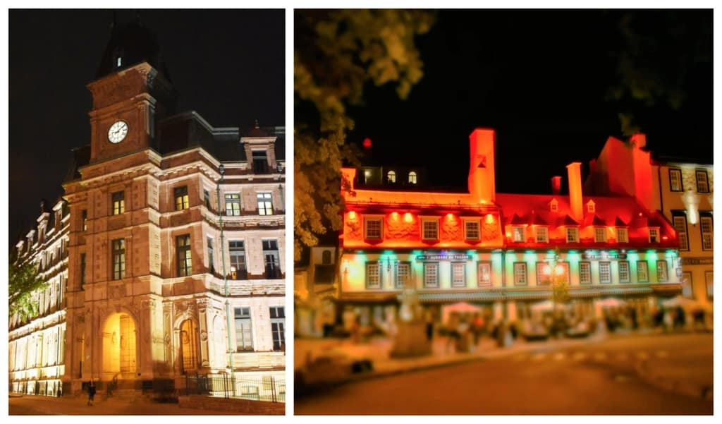 An evening of friendship and food included a walking tour of the architecture in Old Quebec City.