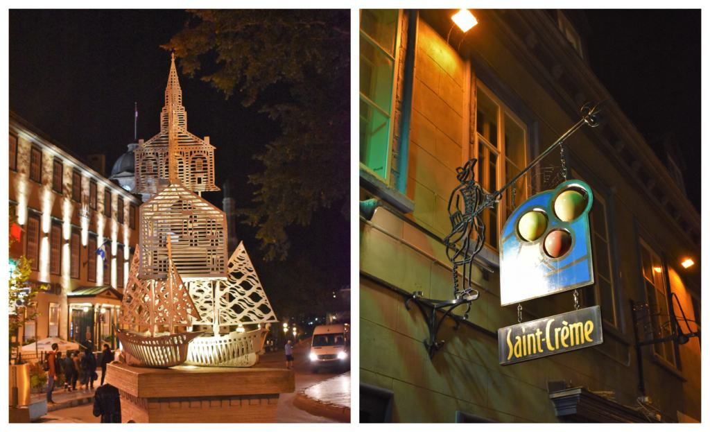 The signs and artwork scattered around Quebec City are a delightful surprise for tourists.