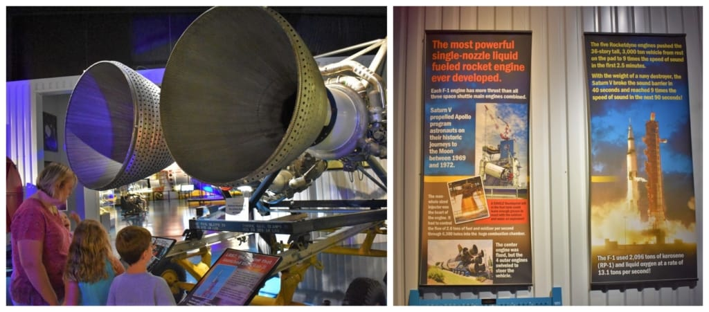 There are plenty of exhibits designed to teach visitors about the invention and modifications of rockets through the space race timeline.