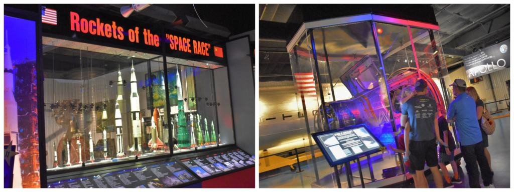 """The exhibits at the Stafford Air Museum include plenty of information about the """"Space Race""""."""