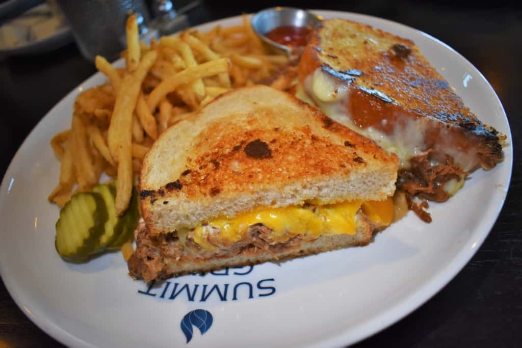 The Ultimate Grilled Cheese sandwich is a good example of how Summit Grill is dressing up brunch.