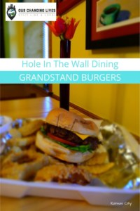Hole in the Wall dining-Grandstand Burgers-cheesburgers-french fries-onion rings-carryout food