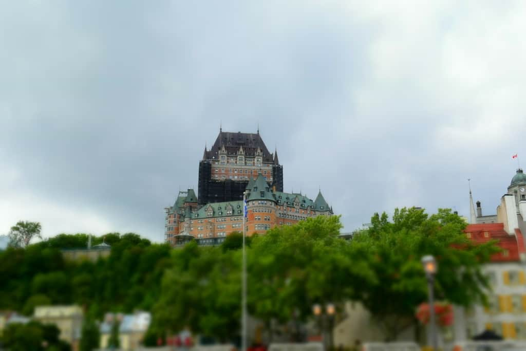 Chateau Frontenac sits high on Cap Diamante overlooking Lower Town in Quebec City.