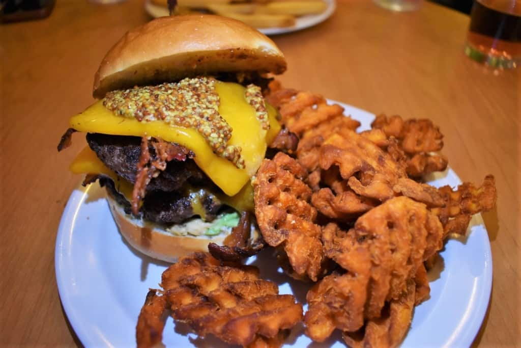 The Forty Ten is one of Green Room Burgers larger sandwiches and a formidable task to tackle.