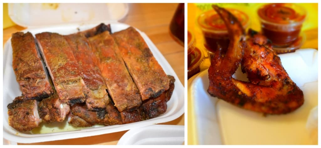 Woodyard Bar-B-Que uses a Texas dry rub style of cooking for their ribs.