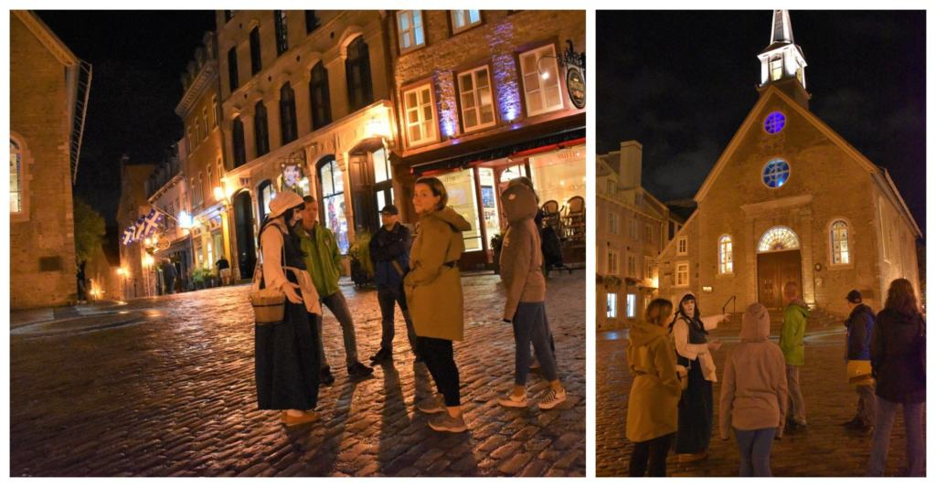 A ghost tour offers guests new ways to learn some interesting history about Lower Town.