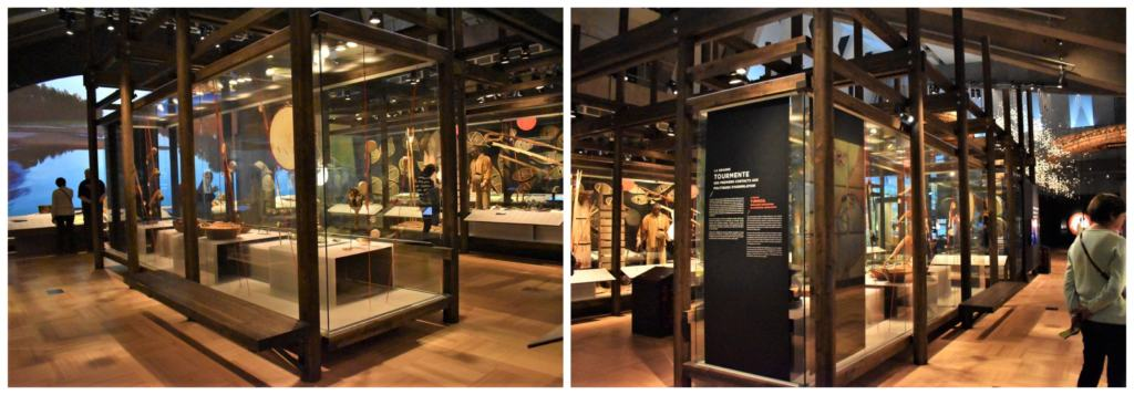 A permanent display at the Museum of Civilization showcases the native tribes of the Quebec region.